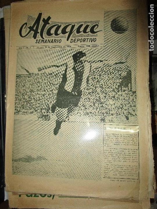 Coleccionismo de Revistas y Periódicos: ATAQUE 1957 3 RAROS PERIODICOS antiguos FUTBOL HERCULES DE alicante DEPORTIVO Nº 1 - 2- 7.- - Foto 3 - 48632104