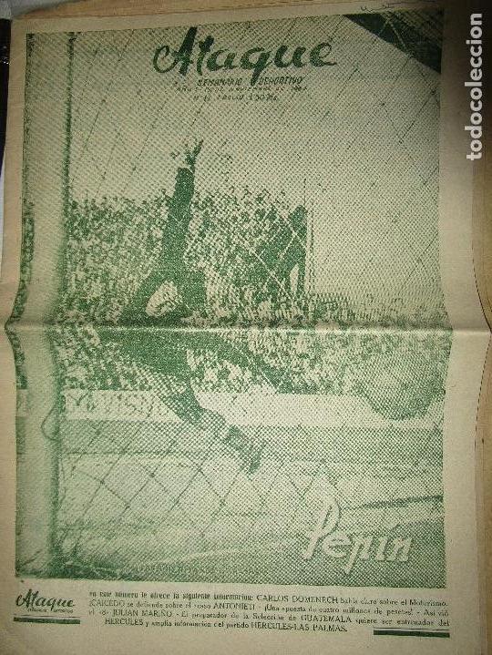 Coleccionismo de Revistas y Periódicos: ATAQUE 1957 3 RAROS PERIODICOS antiguos FUTBOL HERCULES DE alicante DEPORTIVO Nº 1 - 2- 7.- - Foto 4 - 48632104