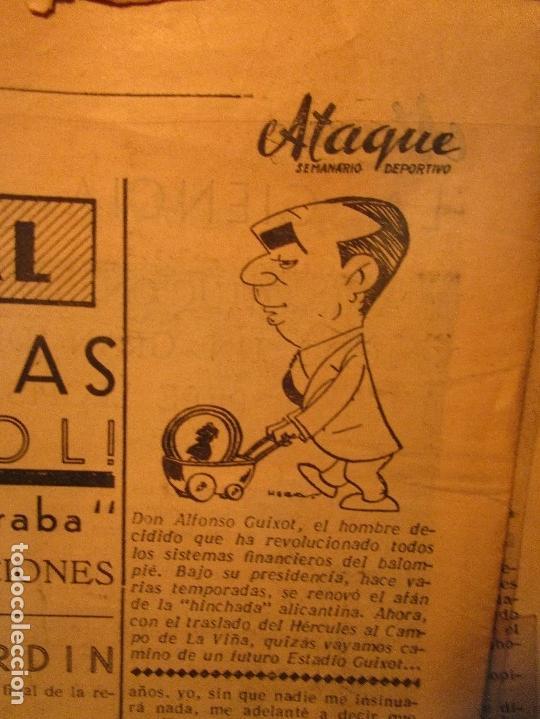 Coleccionismo de Revistas y Periódicos: ATAQUE 1957 3 RAROS PERIODICOS antiguos FUTBOL HERCULES DE alicante DEPORTIVO Nº 1 - 2- 7.- - Foto 33 - 48632104