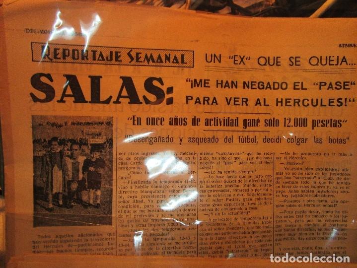Coleccionismo de Revistas y Periódicos: ATAQUE 1957 3 RAROS PERIODICOS antiguos FUTBOL HERCULES DE alicante DEPORTIVO Nº 1 - 2- 7.- - Foto 34 - 48632104