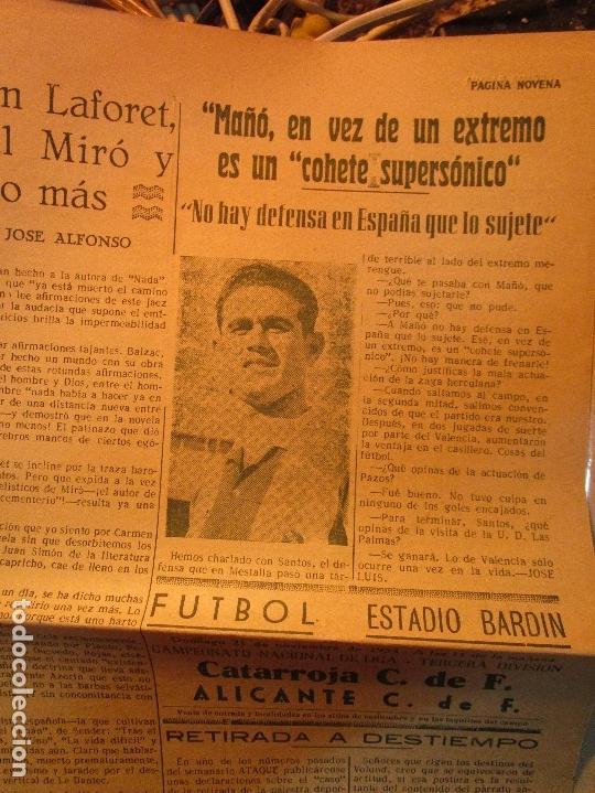 Coleccionismo de Revistas y Periódicos: ATAQUE 1957 3 RAROS PERIODICOS antiguos FUTBOL HERCULES DE alicante DEPORTIVO Nº 1 - 2- 7.- - Foto 37 - 48632104