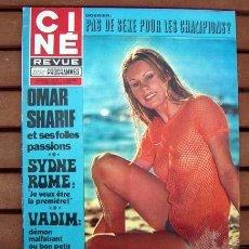 Coleccionismo de Revistas y Periódicos: CINE REVUE / OMAR SHARIF, SYDNE ROME, ALAIN DELON, FRANCHOT TONE, ROGER VADON, YVES MONTAND. Lote 134755122