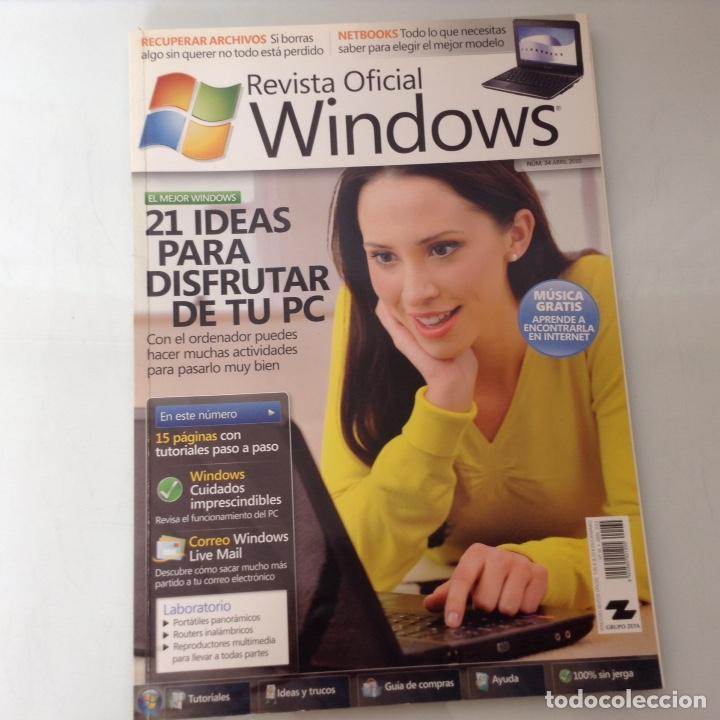 REVISTA OFICIAL WINDOWS N.34 (Coleccionismo - Revistas y Periódicos Modernos (a partir de 1.940) - Otros)