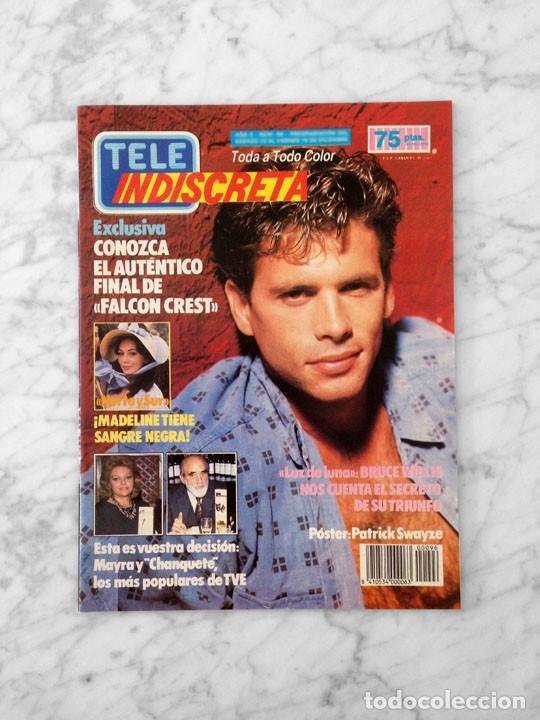 TELE INDISCRETA - 1986 - LORENZO LAMAS, FALCON CREST, PATRICK SWAYZE, ANA OBREGON, DANIEL GREENE (Coleccionismo - Revistas y Periódicos Modernos (a partir de 1.940) - Otros)