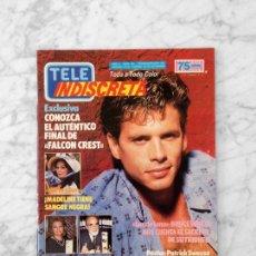 Coleccionismo de Revistas y Periódicos: TELE INDISCRETA - 1986 - LORENZO LAMAS, FALCON CREST, PATRICK SWAYZE, ANA OBREGON, DANIEL GREENE. Lote 134836686