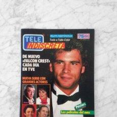 Coleccionismo de Revistas y Periódicos: TELE INDISCRETA - 1986 - LORENZO LAMAS, FALCON CREST, BIBI ANDERSEN, LOS DROIDS, LOS COLBY, V. ABRIL. Lote 134837070