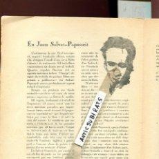 Coleccionismo de Revistas y Periódicos: RARA REVISTA L' AVANÇADA ANY 1924 NUMERO 1 JOAN SALVAT-PAPASSEIT MILLAS-RAURELL JOSEP LLEONART . Lote 134999310