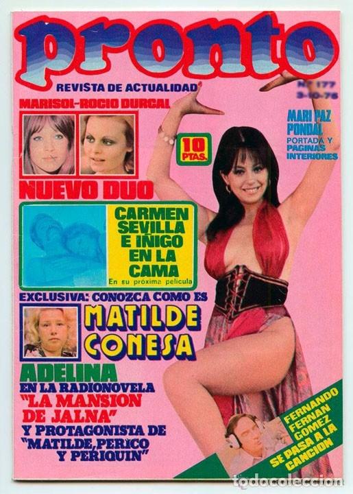 Pronto 1975 Mary Paz Pondal Rocío Dúrcal Y Marisol Sara Montiel Lina Morgan Rocío Jurado
