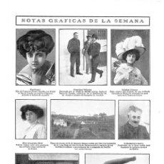 Coleccionismo de Revistas y Periódicos: 1909 HOJA REVISTA SEVILLA MUELLE DEL GUADALQUIVIR DESEMBARCO HERIDOS - DIRIGIBLE ESPAÑOL ESPAÑA. Lote 135018718