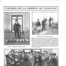 Coleccionismo de Revistas y Periódicos: 1909 HOJA REVISTA TOLEDO TORRIJOS DEHESA DE CANILLAS CACERÍA TORERO RICARDO TORRES BOMBITA FUENTES. Lote 135023862