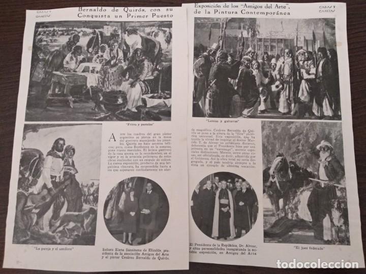 REPORTAJE REVISTA ORIGINAL ANTIGUO.BERNALDO QUIROS,GANA EXPOSICION AMIGOS ARTE PINTURA BUENOS AIRES (Coleccionismo - Revistas y Periódicos Antiguos (hasta 1.939))