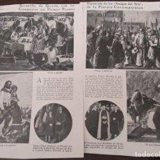 Coleccionismo de Revistas y Periódicos: REPORTAJE REVISTA ORIGINAL ANTIGUO.BERNALDO QUIROS,GANA EXPOSICION AMIGOS ARTE PINTURA BUENOS AIRES. Lote 135034302