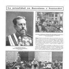 Coleccionismo de Revistas y Periódicos: 1909 HOJA REVISTA SANTANDER PUENTE DE ATARAZANAS PRUEBAS DE RESISTENCIA CARRO 11000 KILOS. Lote 135046158