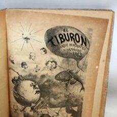 Coleccionismo de Revistas y Periódicos: ALMANAQUE HUMORISTICO EL TIBURÓN 9 AÑOS ENCUADERNADOS.(1863-1874).. Lote 135084030