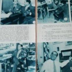 Coleccionismo de Revistas y Periódicos: ACTOR ANGEL DE ANDRÉS EN 1957 EN RECORTE (R4284) 3 PÁGINAS REVISTA BLANCO Y NGERO DE ESE AÑO. Lote 135143386