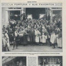 Coleccionismo de Revistas y Periódicos: 1918 HOJA REVISTA SALAMANCA MERCADO VENDEDORES PREMIADOS LOTERÍA DE NAVIDAD SANTANDER ADMINISTRACIÓN. Lote 135265630