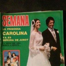 Coleccionismo de Revistas y Periódicos: CAROLINA DE MONACO-GRACE KELLY-LAS GRECAS-MISS ESPAÑA-BARÇA-REIXACH-PALOMA SAN BASILIO-CAMILO SESTO. Lote 135333210