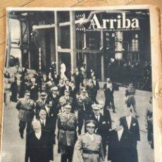 Coleccionismo de Revistas y Periódicos: ARRIBA (25-9-57) INAUGURACION NOU CAMP HORCAJO DE LOS MONTES SIDERURGICA DE AVILES ALCALA LA REAL. Lote 135371550