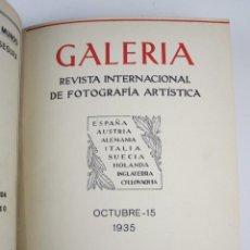 Coleccionismo de Revistas y Periódicos: GALERÍA - REVISTA DE FOTOGRAFÍA ARTÍSTICA. 1935-1936. (ORTIZ ECHAGÜE ED.) MUY RARA, VER LOTE.. Lote 135396922