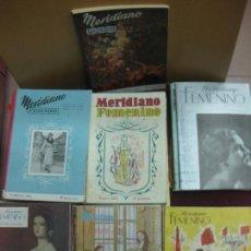 Coleccionismo de Revistas y Periódicos: MERIDIANO FEMENINO 53 REVISTAS AÑOS 50.. Lote 135423402