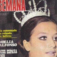 Coleccionismo de Revistas y Periódicos: REVISTA SEMANA Nºº 1539 AÑO 1969. NOELIA ALFONSO MISS ESPAÑA. GINA LOLLOBRIGIDA. CLAUDIA CARDINALE.. Lote 135493530