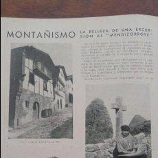 Coleccionismo de Revistas y Periódicos: MENDIZORROTZ ORIO BASERRITARA IGUELDO / MONTAÑERAS ELCORO Y CARMEN YZA EIBAR REVISTA AÑO 1935. Lote 135494058
