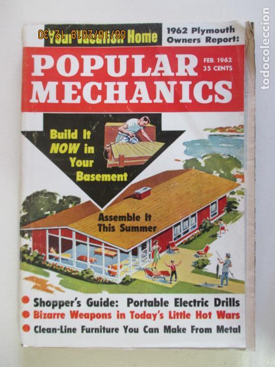 POPULAR MECHANICS FEB 1962. YOUR VACATION HOME. PLYMOUTH OWNERS REPORT. segunda mano