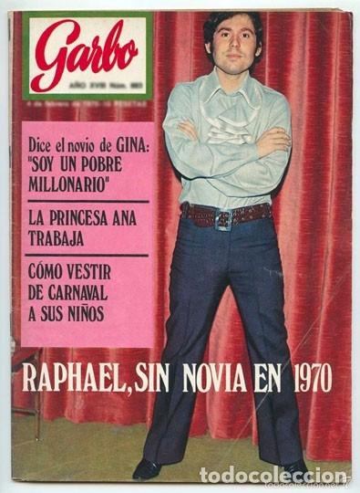 GARBO - 1970 - RAPHAEL, LUCÍA BOSÉ, ROCÍO JURADO, ROCÍO DÚRCAL Y JUNIOR, JOHN LENNON, JACKIE ONASSIS (Coleccionismo - Revistas y Periódicos Modernos (a partir de 1.940) - Otros)