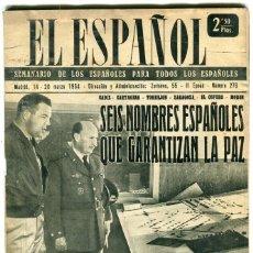 Coleccionismo de Revistas y Periódicos: EL ESPAÑOL- FUTBOL MUNDIAL DE SUIZA (9 PAG. 12 FOTOS)-DRAGAMINAS NALON (4 PAG. 10 FOT.) AÑO 1954 . Lote 135618002