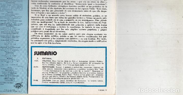 Coleccionismo de Revistas y Periódicos: REVISTA POSIBLE Nº 160 AÑO 1978. HABLAN VICTIMAS DEL POLICIA YAGÜE.BARBARA REY..TARRADELLAS Y BENET. - Foto 2 - 135649415
