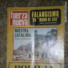 Coleccionismo de Revistas y Periódicos: REVISTA FUERZA NUEVA Nº198 AÑO 1970 NUESTRA CATALUÑA POR JOSE C.DE SOBREGRAU. Lote 135706559