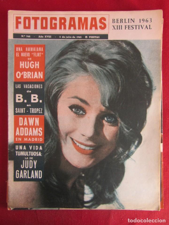 REVISTA FOTOGRAMAS Nº 762 1963 (Coleccionismo - Revistas y Periódicos Modernos (a partir de 1.940) - Otros)