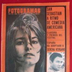 Coleccionismo de Revistas y Periódicos: REVISTA FOTOGRAMAS Nº 976 1967. FESTIVAL SAN SEBASTIAN. Lote 135734059