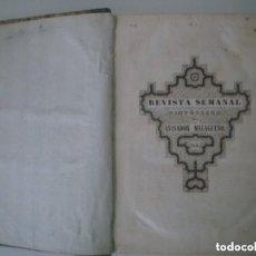 Coleccionismo de Revistas y Periódicos: LIBRERIA GHOTICA. REVISTA SEMANAL PINTORESCA DEL AVISADOR MALAGUEÑO.1846. FOLIO MENOR.GRABADOS. RARO. Lote 135747278
