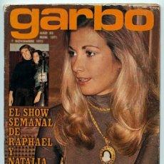 Coleccionismo de Revistas y Periódicos: GARBO - 1973 MARIOLA, RAPHAEL, RAMÓN PONS, AMPARO MUÑOZ, ALEXANDRA BASTEDO, MARISOL, MÓNICA RANDALL. Lote 56957979
