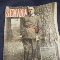 Coleccionismo de Revistas y Periódicos: REVISTA SEMANA AÑO 194 NUM 84 FRANCO, EL DEL EBRO. Lote 135844254