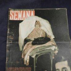 Coleccionismo de Revistas y Periódicos: REVISTA SEMANA AÑO 1947 NUM 393 MUERTE DE MANOLETE. Lote 135844862