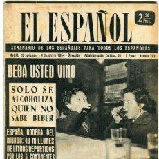 Coleccionismo de Revistas y Periódicos: EL ESPAÑOL-ROQUETAS OBSERVATORIO DEL EBRO(4 PAG.6 FOT.)VALENCIA C.F.COPA GENERALISIMO VER PUBLI 1954. Lote 135857098