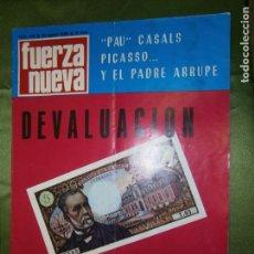 Coleccionismo de Revistas y Periódicos: REVISTA FUERZA NUEVA Nº138 AÑO 1969 (ESPAÑA REHUSA DISCUTIR LA CUESTIÓN DEL SAHARA CON MARRUECOS-. Lote 135888778