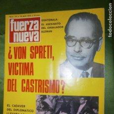Coleccionismo de Revistas y Periódicos: REVISTA FUERZA NUEVA Nº 171 AÑO 1970 ( LA CRUZADA, EL EJERCITO Y CATALUÑA . Lote 135892014