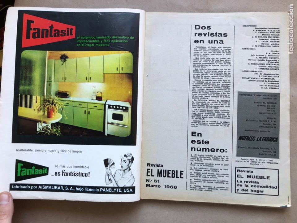 Coleccionismo de Revistas y Periódicos: REVISTA EL MUEBLE N° 51 (MARZO, 1966). REVISTA DE LA COMODIDAD. 2 REVISTAS EN 1. - Foto 2 - 135893933