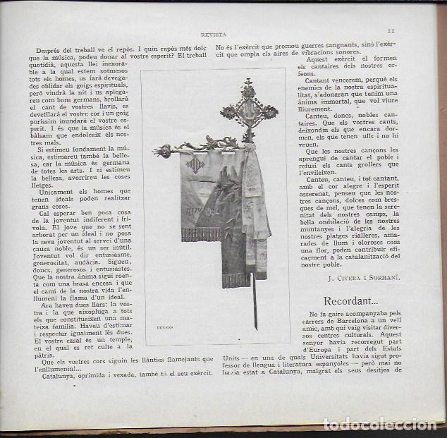Coleccionismo de Revistas y Periódicos: Orfeó Gracienc. Novembre 1919. Número extraordinari ... adquisició casal propi. - Foto 5 - 135933778