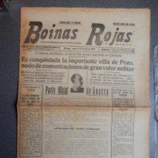 Coleccionismo de Revistas y Periódicos: CONQUISTA DE PONS RENDICIÓN BARCELONA PERIÓDICO GUERRA CIVIL BOINAS ROJAS 19/01/39. Lote 135949970