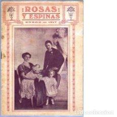 Coleccionismo de Revistas y Periódicos: ROSAS Y ESPINAS. AÑO III. NÚM. 25. ENERO DE 1917. Lote 100024587