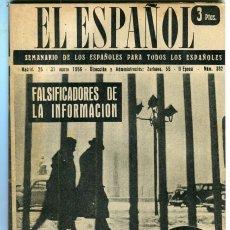 Coleccionismo de Revistas y Periódicos: EL ESPAÑOL-ROTA (4 PAGINAS 6 FOTOS) CAMPO DE GIBRALTAR (4 PAGINAS 7 FOTOS)PROFESOR BERRUETA AÑO 1956. Lote 136004362