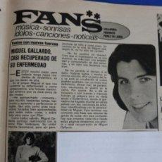 Colecionismo de Revistas e Jornais: RECORTE REPORTAJE CLIPPING DE MIGUEL GALLARDO REVISTA SEMANA Nº 2072 PAG 87. Lote 136063682