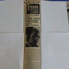 Coleccionismo de Revistas y Periódicos: RECORTE REPORTAJE CLIPPING DE JOSE LUIS PERALES REVISTA SEMANA Nº 2056 PAG 71. Lote 136073214