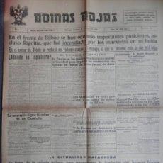 Coleccionismo de Revistas y Periódicos: CONQUISTA RIGOITIA BATALLA BILBAO Y TOLEDO PERIÓDICO GUERRA CIVIL BOINAS ROJAS 11/05/37. Lote 136153078
