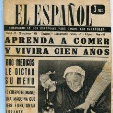 Coleccionismo de Revistas y Periódicos: EL ESPAÑOL-TORTOSA CIUDAD ILUMINADA (4 PAG.3 FOT) ENTREPEÑAS MAS QUE UN PANTANO (7 PAG. 13 FOT) 1954. Lote 136160602