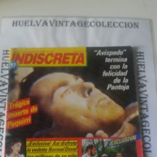 Coleccionismo de Revistas y Periódicos: REVISTA INDISCRETA, ( TRÁGICA MUERTE DE PAQUIRRI ), MUY BUEN ESTADO.. Lote 136173370